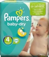 PAMPERS BABY DRY No4+ (9-20kg) 24τμχ
