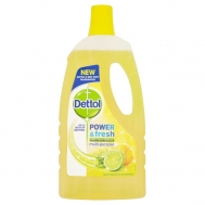 Dettol Aπολυμαντικό Μεγάλων Επιφανειών Power  Fresh Lemon & Lime  1lt