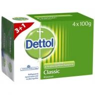 Dettol Σαπούνι Μπάρα Classic 100γρ. 3+1 Δώρο