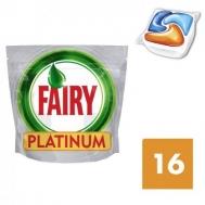 Fairy Platinum Orange Κάψουλες Πλυντηρίου Πιάτων 16τεμ