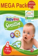 Babylino Sensitive Mega Pack Νο4 (7-18kg) 78 τμχ