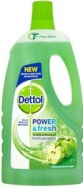 Dettol Aπολυμαντικό Μεγάλων Επιφανειών Power  Fresh Green Apple 1lt