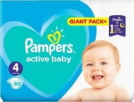 Pampers Active Baby Dry Giant Box No 4 (9-14kg) 90τμχ