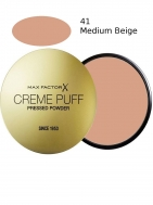 Max Factor Creme Puff Powder Compact 41 Medium Beige 21gr