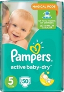 Pampers - Active Baby Dry No 5 (11-18Kg) 50 τμχ