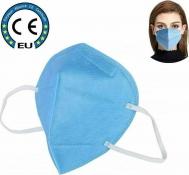 FFP2/KN95 Μάσκα προστασίας ΜΠΛΕ με λάστιχο και μεταλικό έλασμα μύτης - EN 149:2001+A1:2009 (Πακέτο 20τμχ - Συσκευασία 1Χ20)