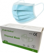 JBH Medical Disposal Mask EN14683 CE MD 50τμχ