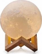Ανάγλυφο Φωτιστικό Αφής 3D Φεγγάρι Moon Light LED Επαναφορτιζόμενο με 3 Αποχρώσεις