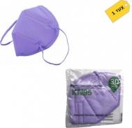 Μάσκες Προστασίας KN95 Μοβ, με 95% προστασία (FFP2 , N95) 1τμχ. Συσκευασμένες ανά τεμάχιο