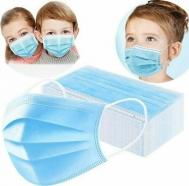 Παιδική Μάσκα Προστασίας μιας Χρήσης 3ply Μπλέ