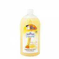 PAPOUTSANIS Κρεμοσάπουνο Family  μελι γαλα Refill 1000ml