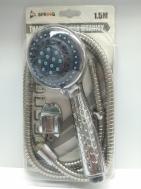 ΣΕΤ Τηλέφωνο Ντους Μπάνιου-Λουτρού με Στήριγμα και Σπιράλ 1,50μ. Χρωμέ