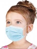 Παιδικές Μάσκες Μιας Χρήσης 3ply Γαλάζιες 50τμχ