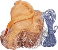 Πεζόβολο Αρματωμένο με Καφέ Δίχτυ Ψαρέματος Διαμέτρου 2,4μετρα ΟΕΜ
