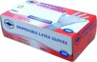 Γάντια Latex Λευκά Aντοχής (χωρίς πούδρα) 100TEM