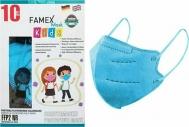 Famex Μάσκα Προστασίας FFP2 NR για Παιδιά Sky Blue 10τμχ