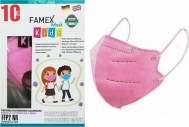 Famex Μάσκα Προστασίας FFP2 NR για Παιδιά σε Ροζ χρώμα 10τμχ